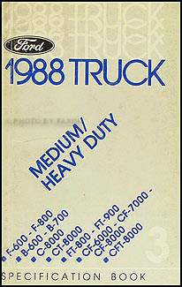 1988 ford truck cab foldout wiring diagram original f600 f700 1988 ford medium and heavy duty truck service specifications book