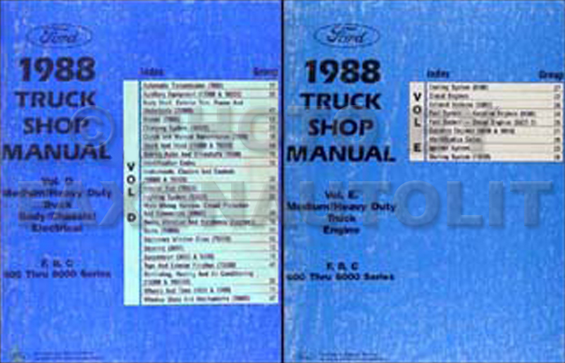 ford f service manuals shop owner maintenance and repair 1988 ford f b c 600 8000 medium and heavy truck repair shop