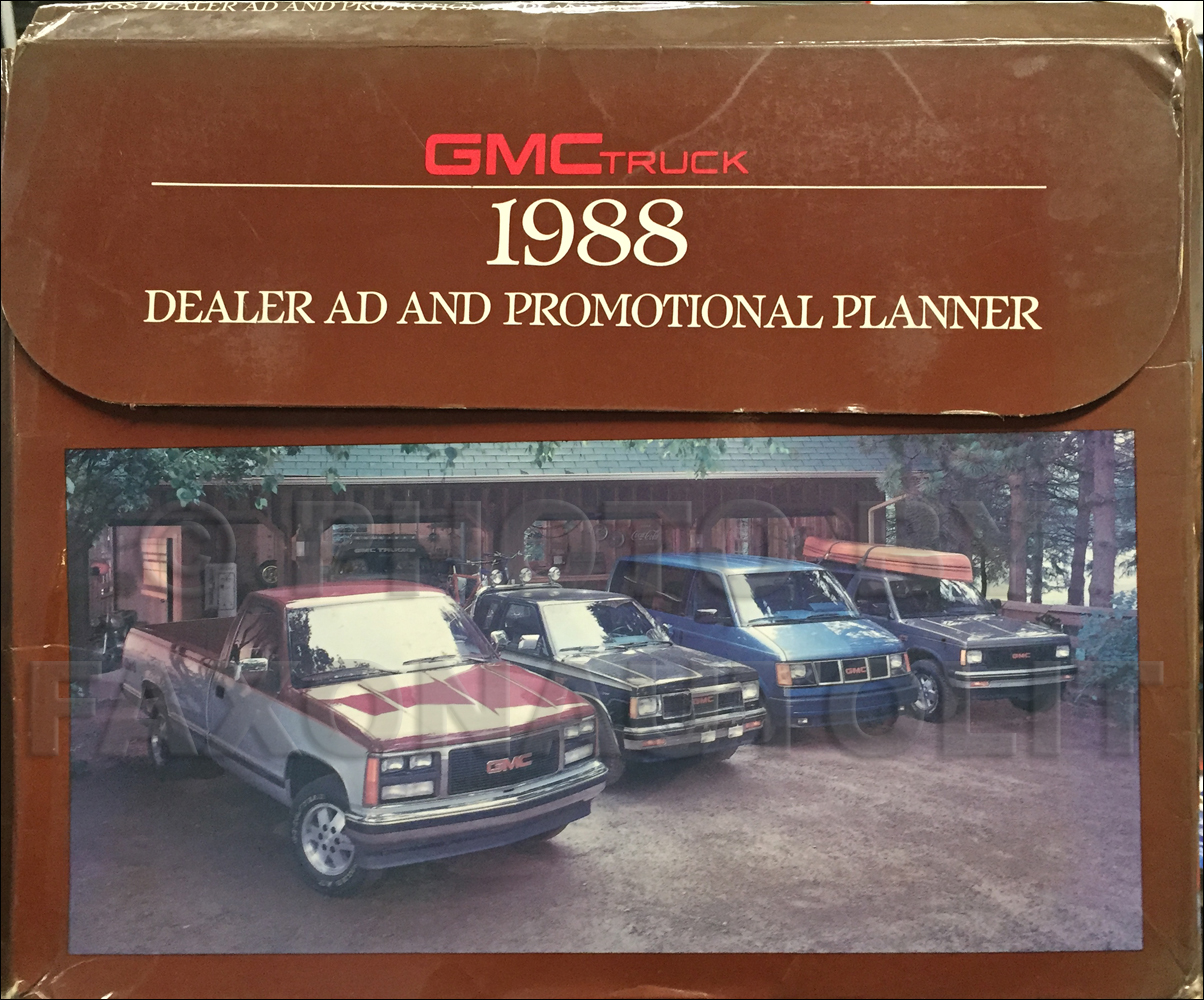 1988 GMC Dealer Advertising Planner Original
