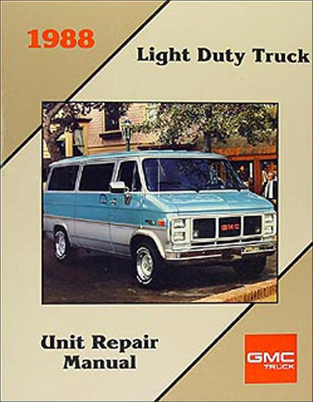 1988 Chevy Astro  Gmc Safari Van Wiring Diagram Original