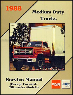 1988GMMDTORM 1988 1989 gmc chevy medium duty 4000 7000 repair shop manual original International Truck Wiring Diagram at n-0.co