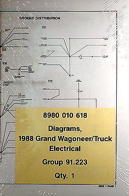 jeep grand wagoneer service manuals shop owner maintenance and 1988 grand wagoneer j 10 j 20 pickup truck wiring diagrams original