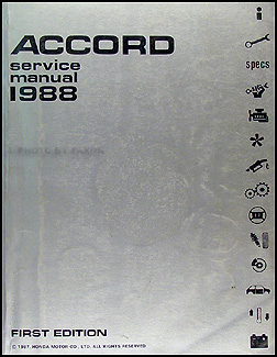 1988HondaAccordORM 1987 1988 honda accord electrical troubleshooting manual original