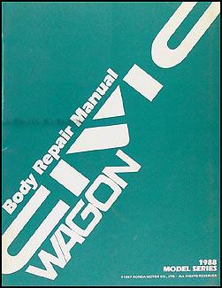 1988-1991 Honda Civic Wagon Body Repair Manual Original