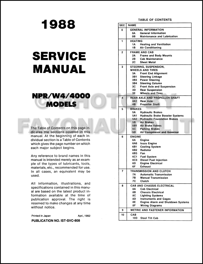 gmc 4500 isuzu npr wiring diagram   33 wiring diagram