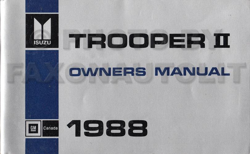 search rh faxonautoliterature com 1996 Isuzu Trooper 1987 Isuzu Trooper