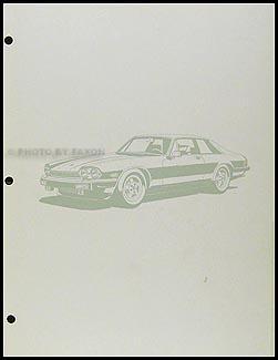 1988 Jaguar XJ-S Electrical Guide Wiring Diagram Original