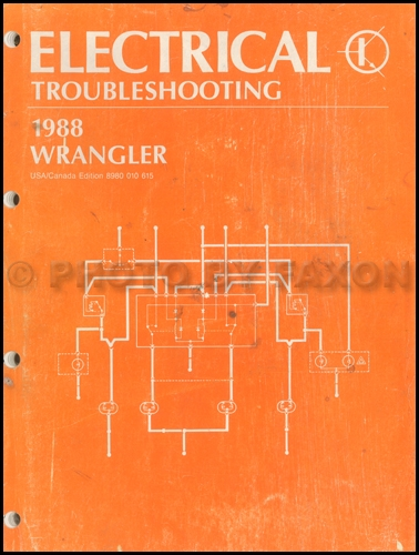 1988 Jeep Wrangler and YJ Electrical Troubleshooting Manual Original