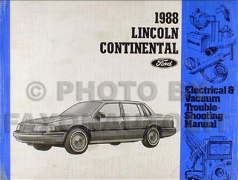 1988 lincoln continental electrical troubleshooting manual