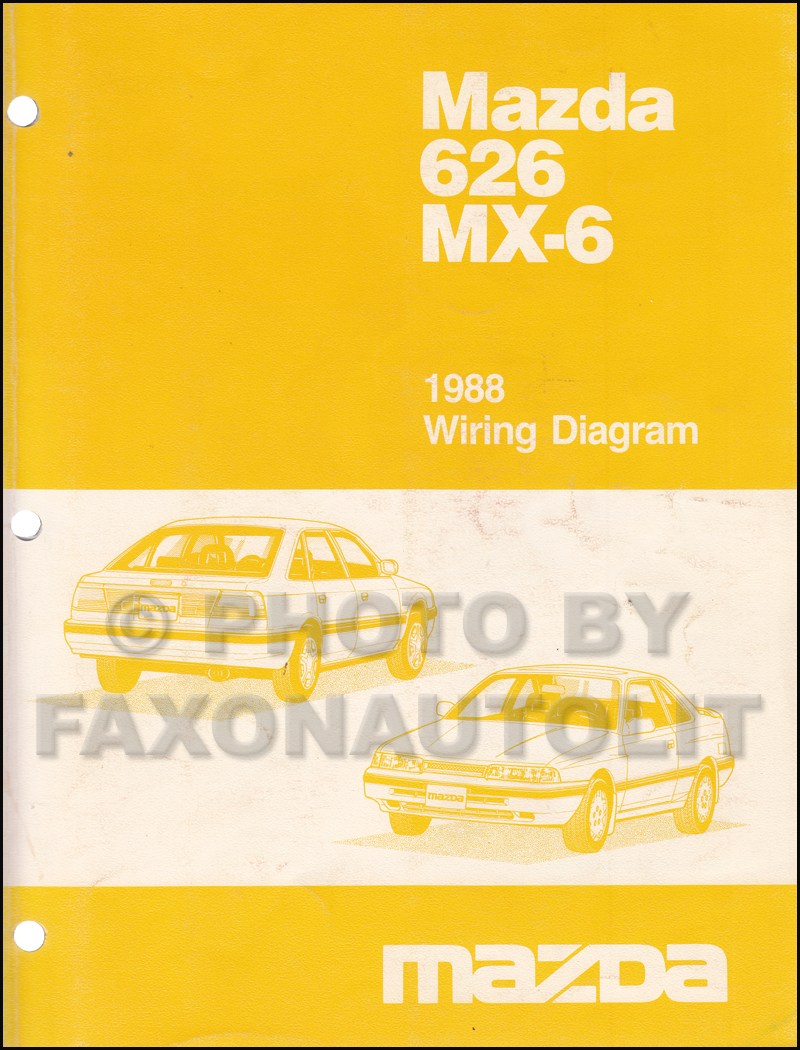 1988 mazda 626 and mx 6 wiring diagram manual original. Black Bedroom Furniture Sets. Home Design Ideas