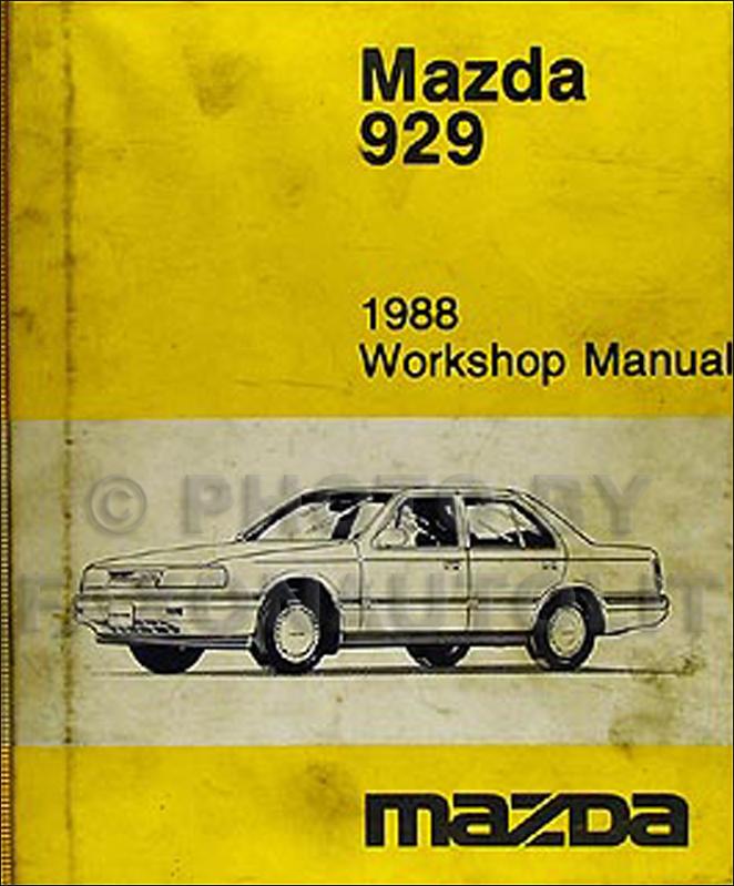 1988 mazda 929 wiring diagram manual original