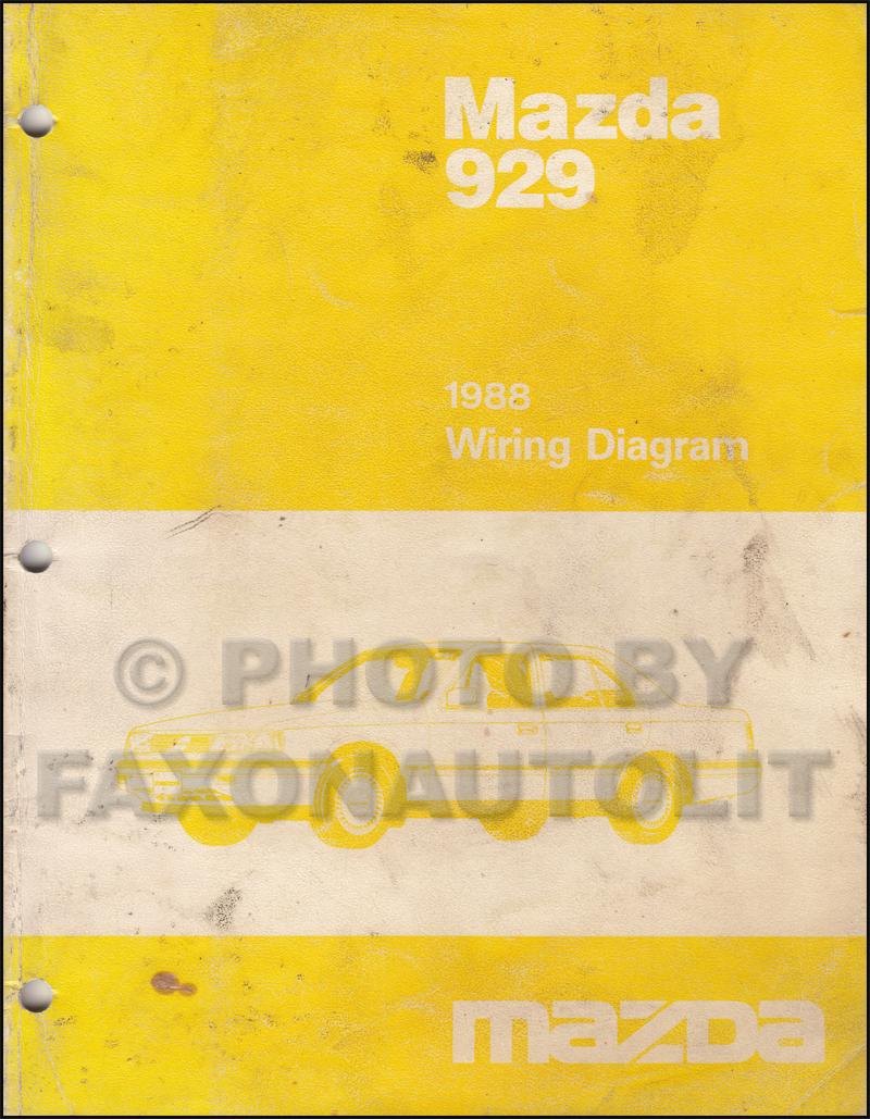 Wiring Diagrams Mazda 929 Schematics B2200 Ignition Diagram 1988 Manual Original Tribute