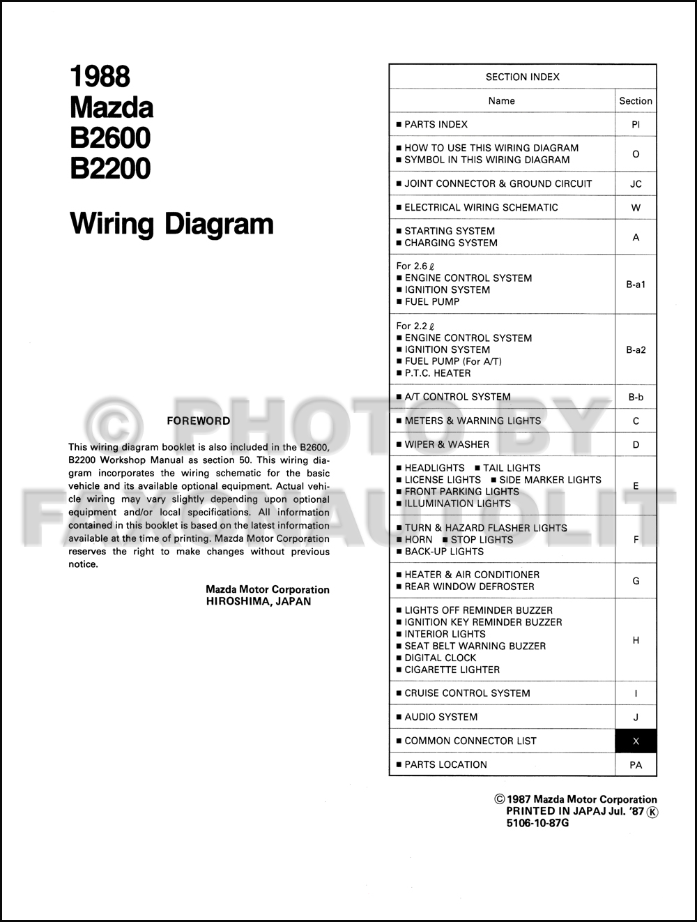 1988 Mazda B2600 Wiring Diagram Layout Wiring Diagrams \u2022 98 Mazda 626  Headlight Replacement Mazda 2000 626 Wiring Headlight