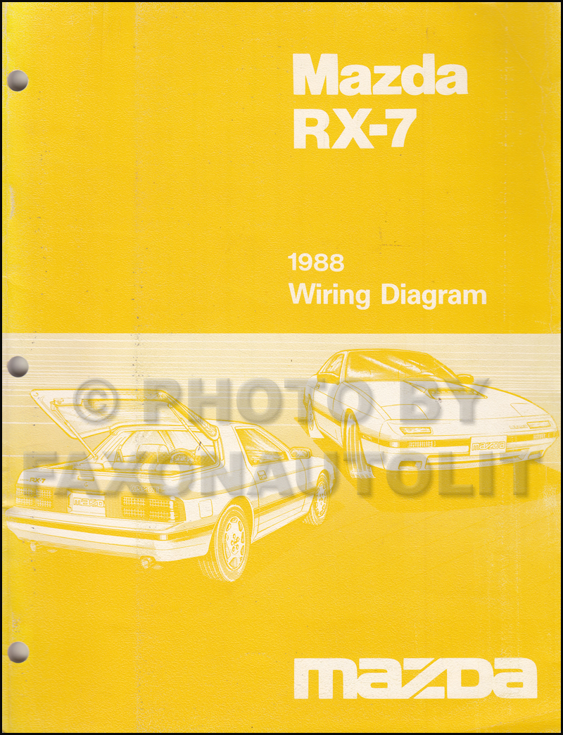 1988 Mazda Rx 7 Wiring Diagram Manual Original Rx7 Diagrams