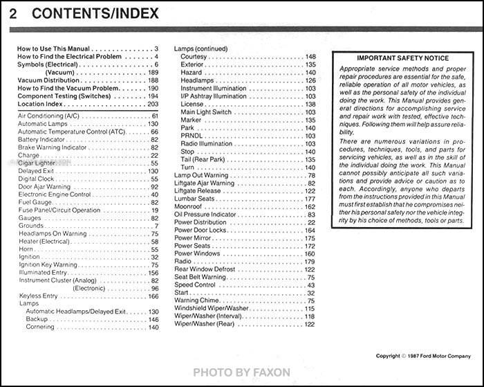 1988 Ford Mustang Electrical & Vacuum Troubleshooting Manual Original