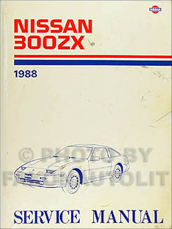 1988 nissan 300zx repair shop manual original rh faxonautoliterature com Intek 190 Pressure Washer Manual Nissan UD 1800 Manual