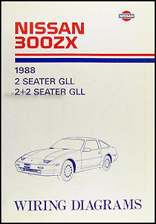 1988Nissan300ZXWD 1988 nissan 300zx wiring diagram manual original 1987 nissan 300zx wiring diagram at bayanpartner.co