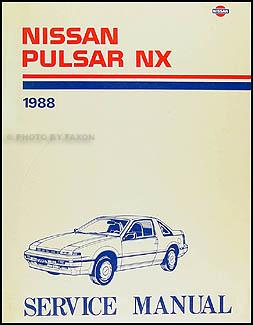 1988 nissan pulsar nx repair shop manual original rh faxonautoliterature com 1982 Nissan Pulsar NX 1987 Nissan Pulsar NX Xe