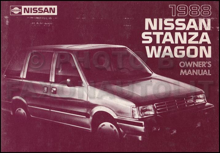 1988 Nissan Stanza Wagon  Multi Wiring Diagram Manual Original