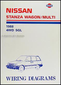 1988    Nissan       Stanza    WagonMulti Wiring    Diagram    Manual Original
