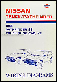 1988NissanTruckWD 1988 nissan truck and pathfinder wiring diagram manual original 1997 nissan pickup wiring diagram at pacquiaovsvargaslive.co