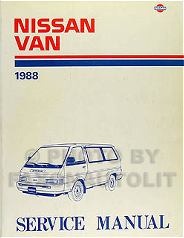 1988NissanVanORM 1988 nissan van repair shop manual original nissan vanette c22 ignition wiring diagram at nearapp.co
