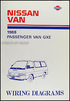 1988 nissan van wiring diagram manual original rh faxonautoliterature com Nissan Frontier Wiring-Diagram Nissan Wiring Harness Diagram