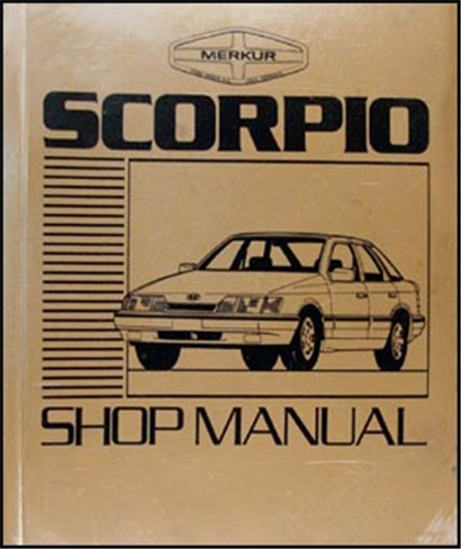 mercury merkur scorpio foldout wiring diagram original 1988 1989 merkur scorpio repair shop manual original 139 00