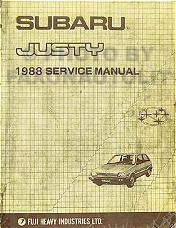 1988 subaru justy repair shop manual original rh faxonautoliterature com