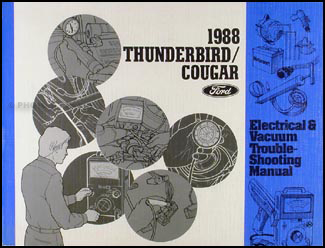 ford thunderbird and mercury cougar wiring diagram original 1988 ford thunderbird mercury cougar xr 7 electrical troubleshooting manual