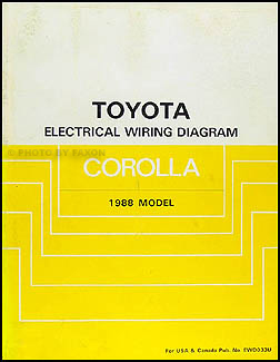 1988 toyota corolla rwd wiring diagram manual original rh faxonautoliterature com