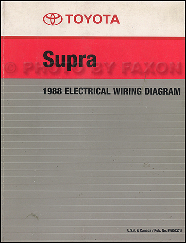 1988 toyota supra wiring diagram manual factory reprint1989 Toyota Supra Wiring Diagram #13