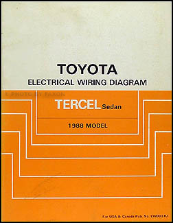 1988 toyota tercel sedan wiring diagram manual original rh faxonautoliterature com BMW 2002 Wiring Diagram BMW 2002 Wiring Diagram