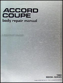 1988-1989 Honda Accord Coupe Body Repair Manual Original