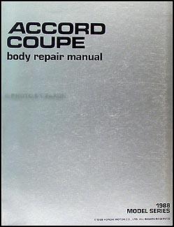 1988 1989 honda accord coupe body repair shop manual original rh faxonautoliterature com Honda Accord Inspire 1989 Honda Accord Coupe