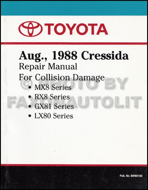 1989 1992 Toyota Cressida Body Collision Repair Shop