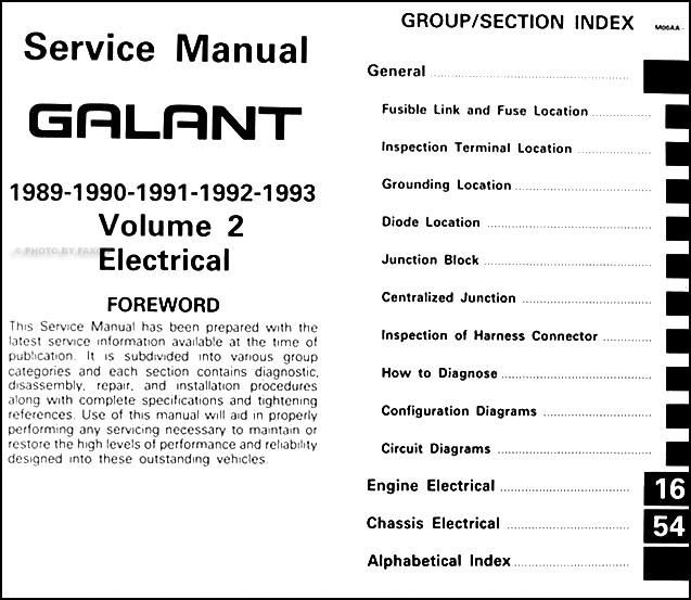 1989 1993 mitsubishi galant repair shop manual set original rh faxonautoliterature com mitsubishi galant repair manual mitsubishi galant repair manual pdf download