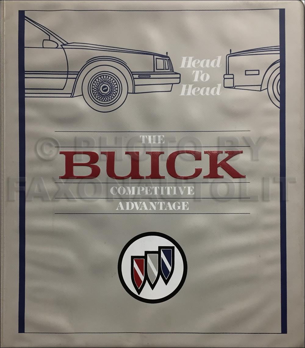 1989 Buick Competitive Comparison Dealer Album Original