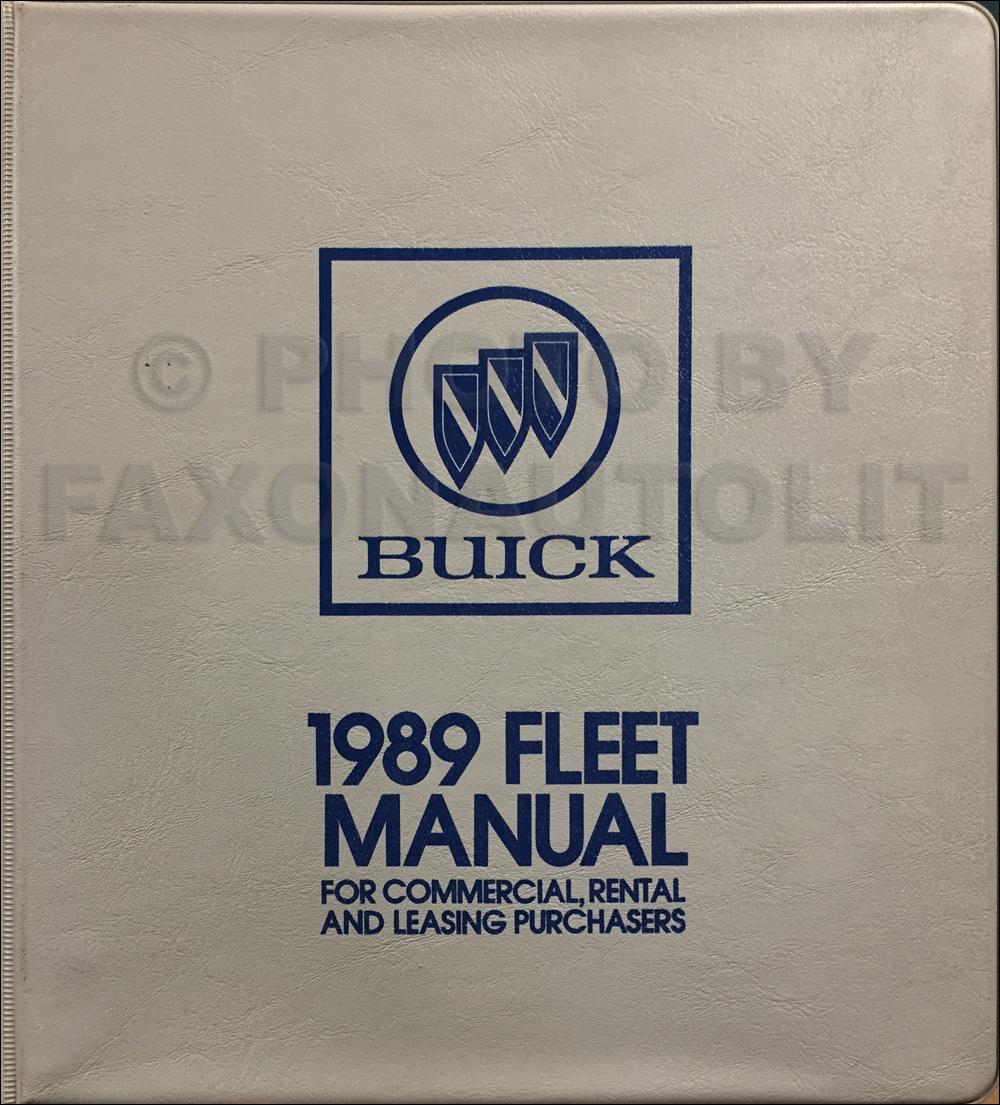 1989 Buick Fleet Buyers Guide Original