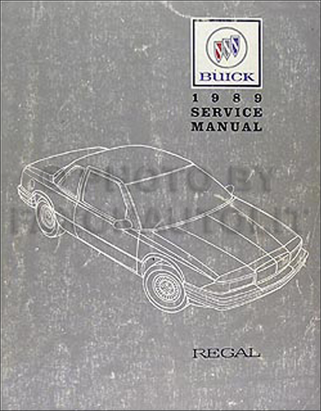 1989 buick regal repair shop manual original rh faxonautoliterature com 1992 Buick Regal 1988 Buick Regal