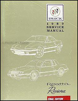 1989 buick riviera wiring diagram 1989 buick riviera and reatta original shop manual 89 1990 buick riviera wiring diagram #13