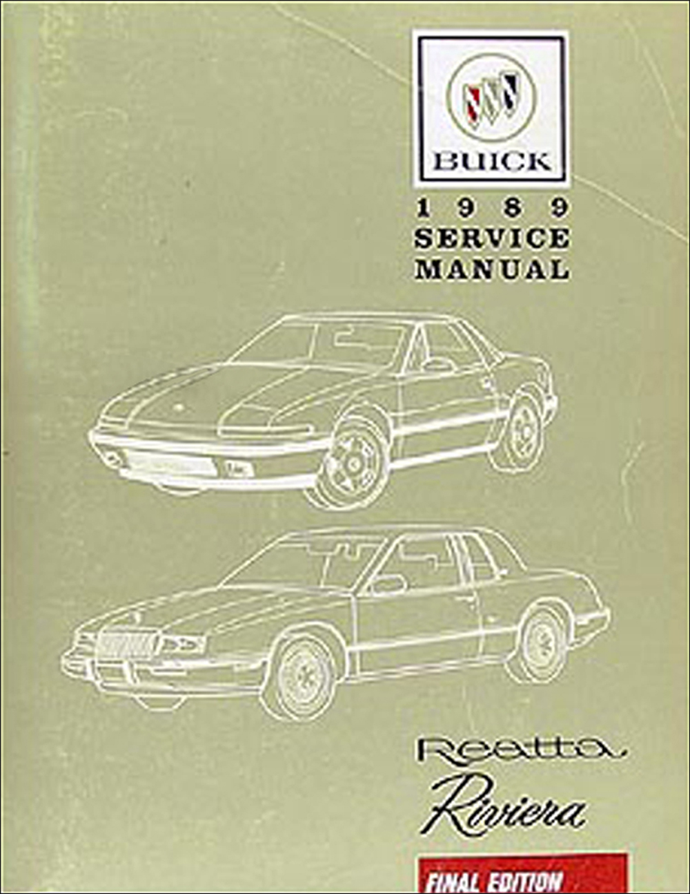 1989 Buick Riviera & Reatta Shop Manual Original