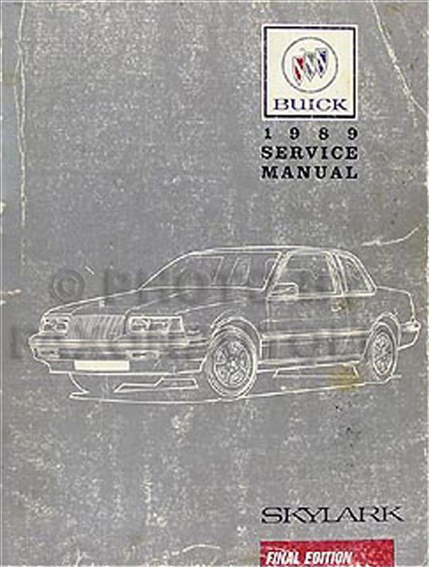 1989 buick skylark repair shop manual original rh faxonautoliterature com 1980 Buick Skylark 1970 Buick Skylark