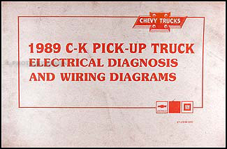 1989 chevy c k pickup wiring diagram manual original rh faxonautoliterature com
