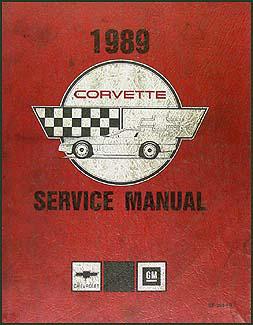 1989 Corvette Shop Manual Original