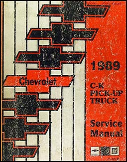1989 Chevrolet C/K Pickup Truck Shop Manual Original