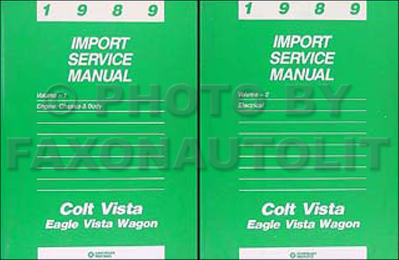 1989 colt vista wagon shop manual set dodge plymouth eagle. Black Bedroom Furniture Sets. Home Design Ideas