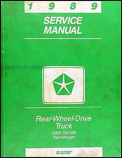 1989 dodge pickup truck ramcharger repair shop manual original rh faxonautoliterature com dodge d150 repair manual 1983 dodge d150 service manual