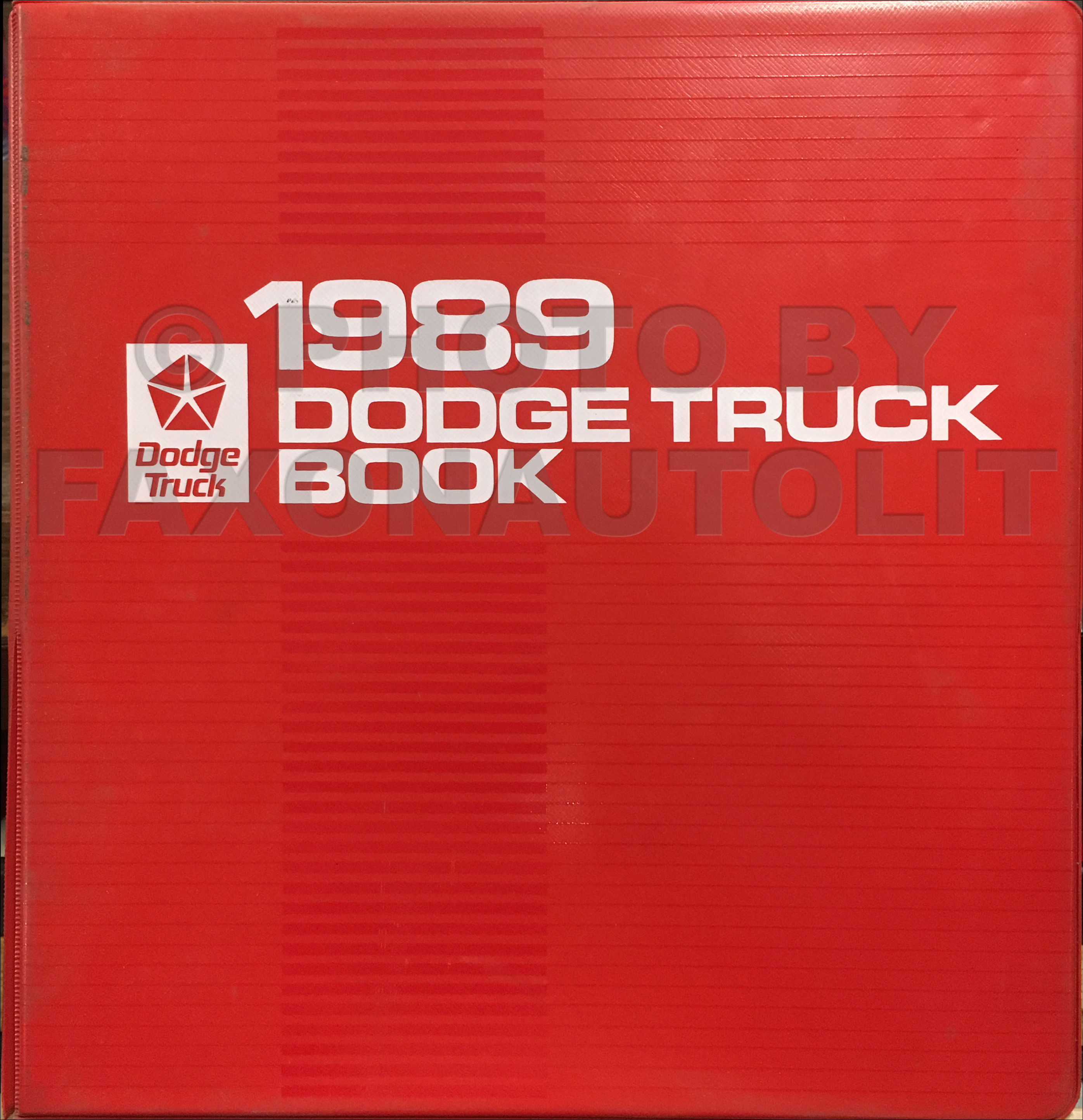 dodge ram van wagon repair shop manual original b b 1989 dodge truck color upholstery album and data book original 149 00
