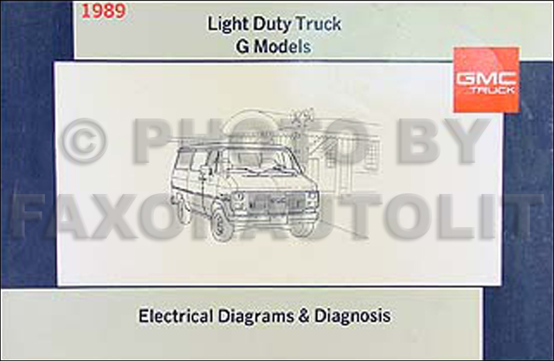 1989 gmc g van vandura wiring diagram manual original 1996 GMC Wiring Diagram